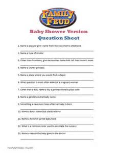 Baby Shower Questionnaire by Best 25 Family Feud Ideas On Family Feud