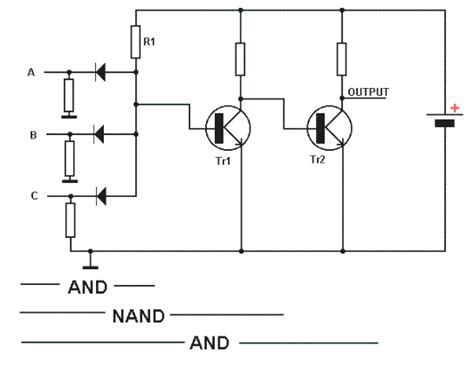 diode resistor logic circuits diode transistor logic tutorial circuits combination logic tutorials electronic hobby projects