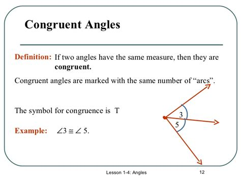how do you indicate congruent angles in a diagram angles ppt