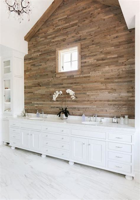 plank wall bathroom cottage bathroom with plank accent wall cottage bathroom