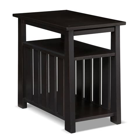 Black Living Room End Tables Tribute Chairside Table Black American Signature Furniture