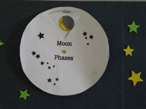 moon craft for moon phase wheel printable science health