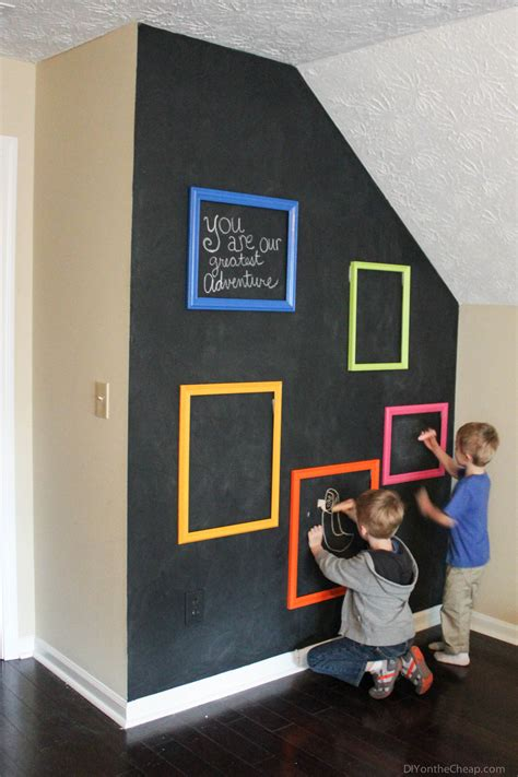 diy chalkboard for playroom playroom interactive chalkboard gallery wall erin spain