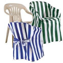 Outdoor Chair Covers   Give ordinary plastic chairs a