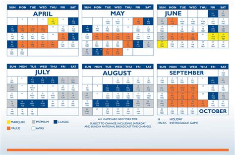 image gallery new york mets schedule