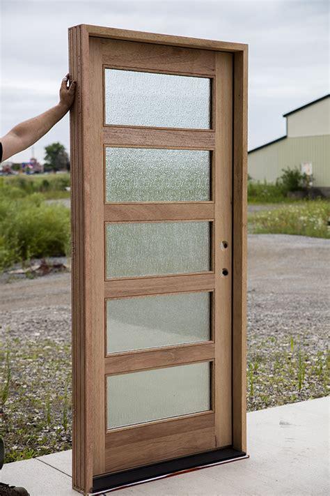 Shaker Exterior Door With Rain Glass Shaker Style Exterior Doors