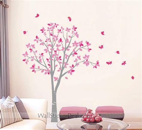tree with butterfly wall stickers home decorating photo
