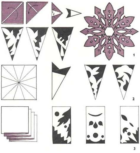 Make Paper Snowflakes - how to make paper snowflakes and garlands holidays