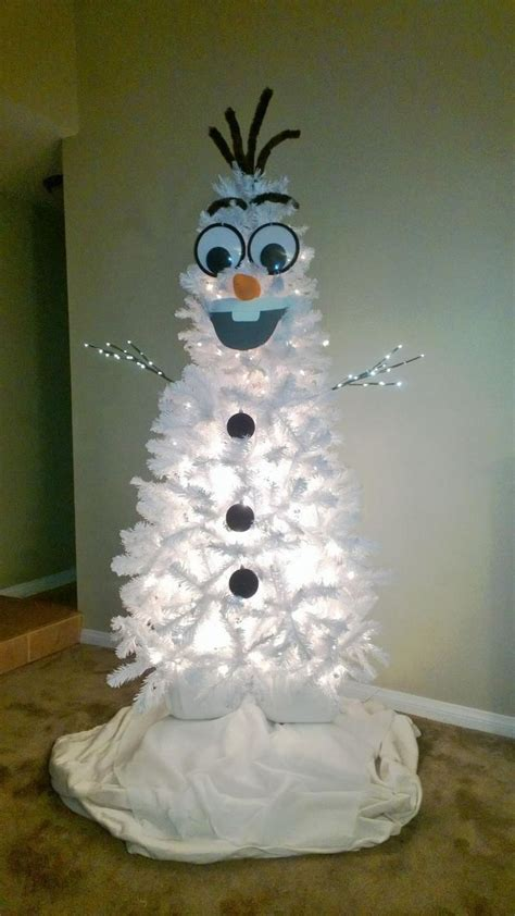 homemade olaf christmas tree snowman christmas tree christmas door decorations funny