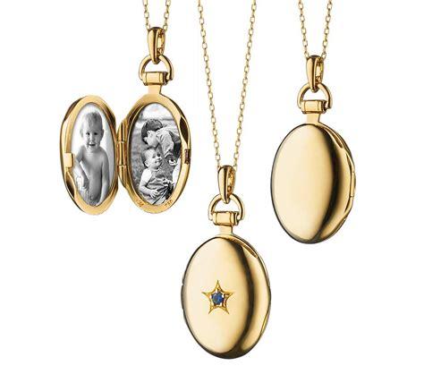 rich kosann sapphire oval locket in 18k