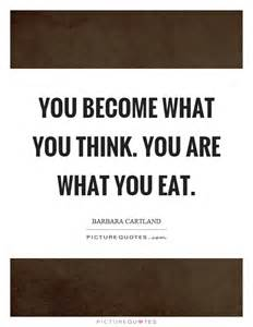you become what you think you are what you eat picture