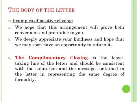Closing Letter Called complimentary letters letter diagrams available