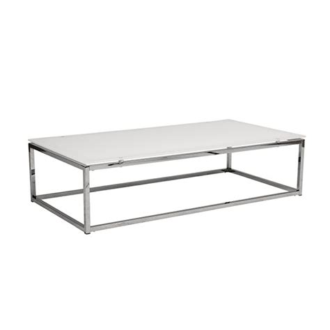 Chrome And Glass Coffee Table Chrome Glass Coffee Table Brickell Collection Modern