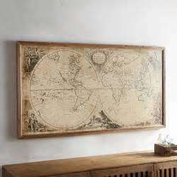 Framed Wall Murals Vintage Style World Map Framed Wall Decor Pier 1 Imports