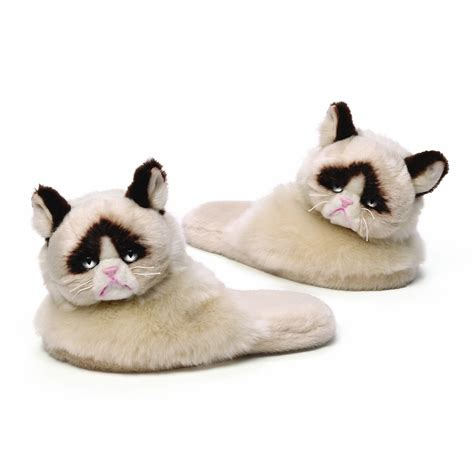 slippers for cats grumpy cat slippers oh my that s awesome