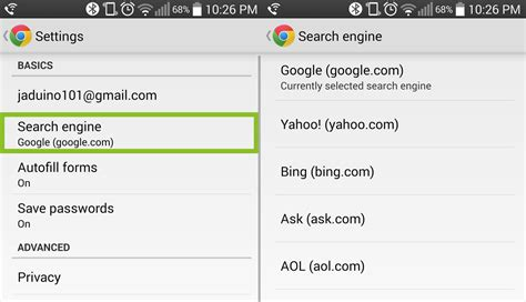 change default browser android how to change your default search engine in chrome android central