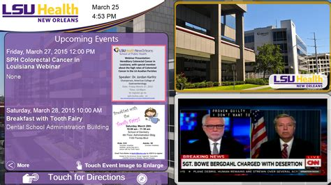 digital signage templates digital signage documentation lsu health new orleans