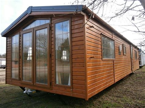 Portable Log Cabins For Sale by New Mobile Log Cabin 2 Bed Lodge Winterised