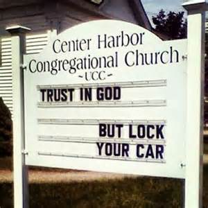 Let these 10 funny church signs give you a holy laugh