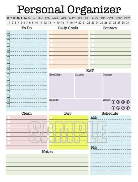 printable tax organizer 2015 2017 planner yearly planner monthly planner