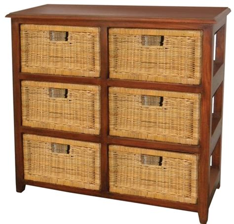 Cane Storage Drawers   Online Furniture & Bedding Store