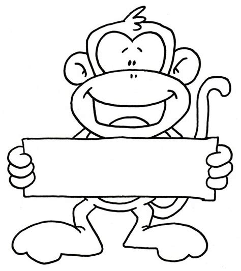finger monkey coloring pages monkey holding sign graphics illustrations clip art i