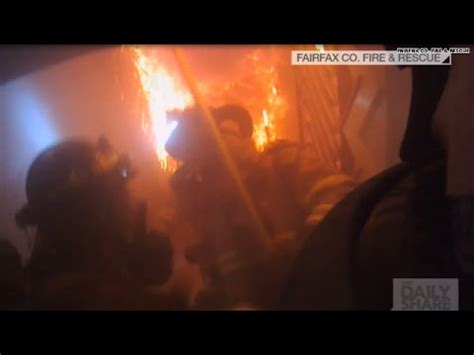 captured by firefighter's helmet cam: dogs' rescue youtube