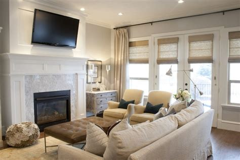 layout living room with fireplace and tv tv over fireplace transitional living room alice