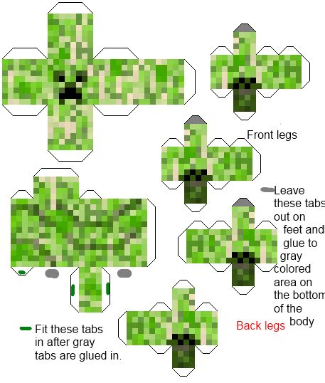 Buy Minecraft Papercraft - minecraft papercraft creeper we gave a finished one as a