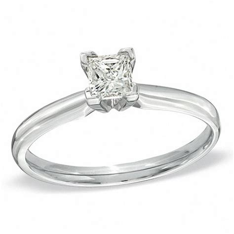 1 2 ct princess cut solitaire engagement ring in
