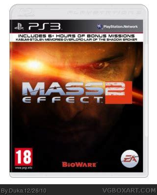 mass effect 2 playstation 3 box art cover by duka