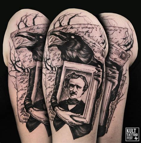 edgar allan poe tattoo my another poe by piotr bemben edgar allan poe