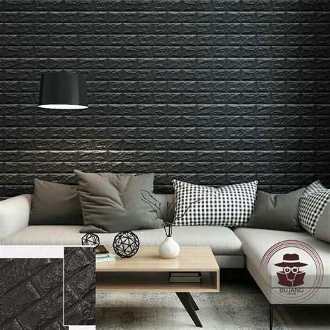 bujang lapuk wallpaper dinding foam  batu bata putih