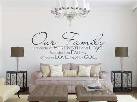 family quote wall stickers family wall decal our family wall quote wall decals by