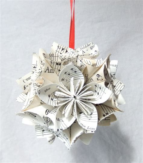 note worthy sm origami ornament upcycled sheet by