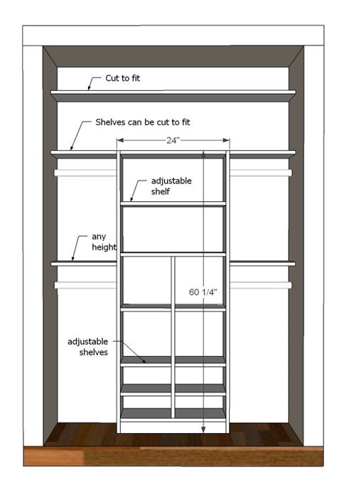 Building Closet Organizers Do It Yourself by Closet Organizers Diy Plans Woodworking Projects Plans