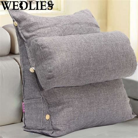 bed pillow chair cotton adjustable sofa bed pillow chair seat rest neck