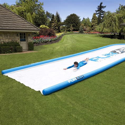 water slides backyard gigantic backyard water slide the green head