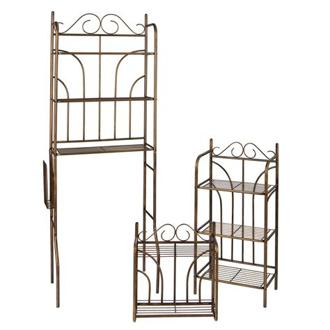 bathroom metal shelf shop boston loft furnishings set of 3 rubbed bronze metal