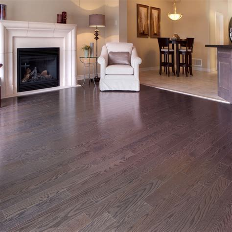 Smooth, Red Oak Pewter   Vintage Hardwood Flooring