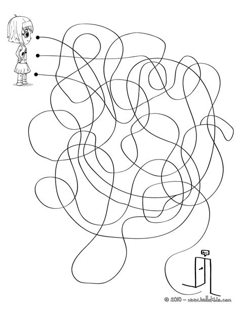 printable maze with multiple exits find the exit printable maze online games hellokids com