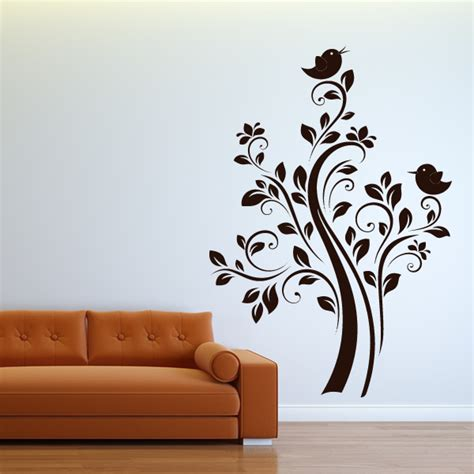 nature wall stickers birds on tree nature wall sticker wall decals transfers ebay