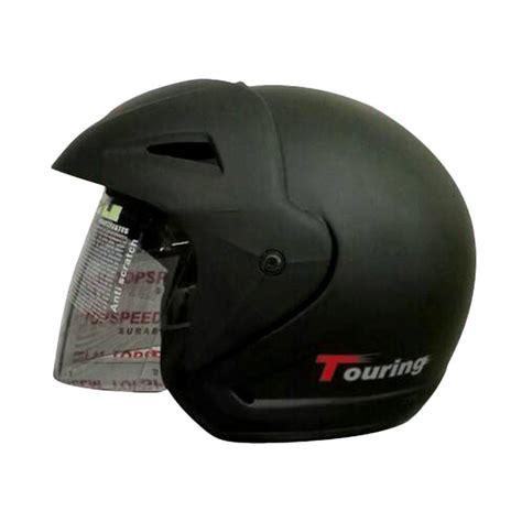 Helm Bmc 380 Touring Jual Bmc Touring Helm Half Hitam Doff Harga Kualitas Terjamin Blibli