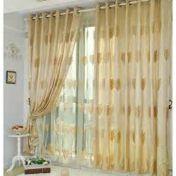 Yellow Curtains For Bedroom Fabulous Leaf Patterns Embroidery Bedroom Blackout Yellow Gold Curtains