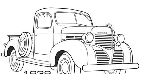vintage dodge truck coloring pages  print   google search dodge trucks pinterest