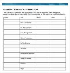 gallery business plan template photo business contingency plan template images
