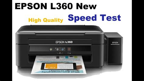 Printer Epson L360 Baru new epson l360 high quality printing test bought from