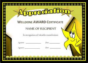 well done certificate template well done award certificates