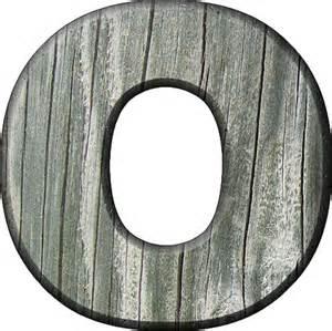 how to o presentation alphabets rough wood letter o
