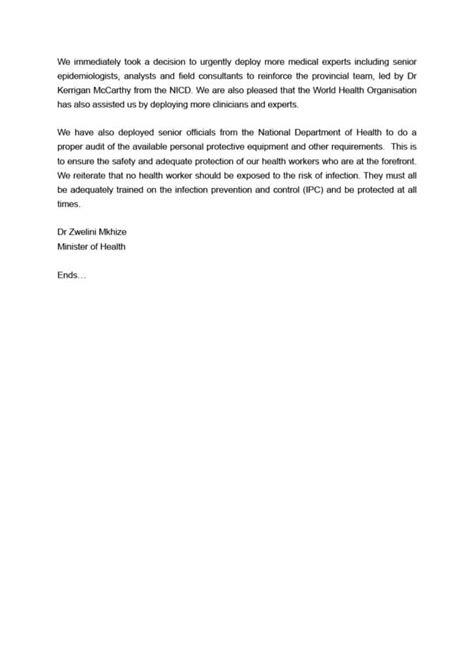 Update on Covid-19 (21st April 2020) - SA Corona Virus